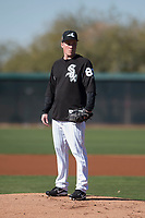 Chicago White Sox pitcher Jordan Stephens (83) during Spring Training Camp on February 25, 2018 at Camelback Ranch in Glendale, Arizona. (Zachary Lucy/Four Seam Images)