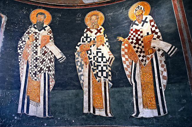 The 11th century Roman Byzantine Church of the Holy Saviour in Chora and its Anastasis fresco of the parecclesion chapel Endowed between 1315-1321 by the powerful Byzantine statesman and humanist  Theodore Metochites. Kariye Museum  Istanbul