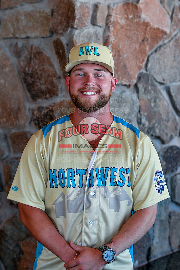 Eric Filia (2) of the Everett AquaSox and the Northwest League All-Stars poses for a photo during activities before the 2nd Annual Northwest League-Pioneer League All-Star Game at Snowbasin Resort on August 1, 2016 in Ogden, Utah. (Stephen Smith/Four Seam Images)