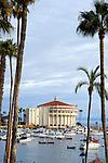The Avalon Ballroom Casino on Catalina Island at dawn