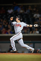 Salt River Rafters Dylan Moore (5), of the Atlanta Braves organization, during a game against the Mesa Solar Sox on October 22, 2016 at Sloan Park in Mesa, Arizona.  Salt River defeated Mesa 7-2.  (Mike Janes/Four Seam Images)