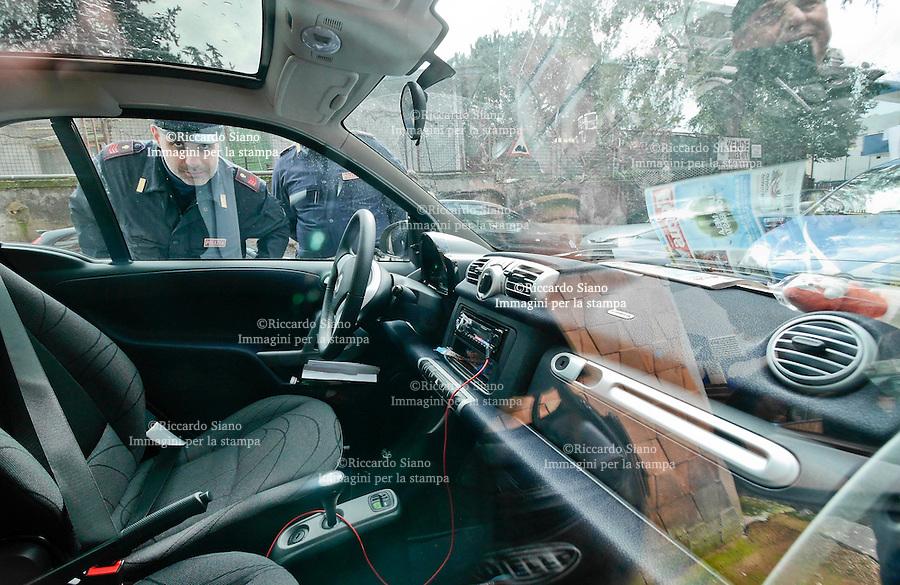 - NAPOLI  12 FEB    2014 -  Ritrovata l'auto di Behrami<br /> in via Cerlone a Fuorigrotta