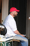 Baltimore, MD- May 16: Doug O'Neill trainer of Kentucky Derby Winner I'll Have Another during morning workouts in preparation for the 137th Preakness at Pimlico Race Course in Baltimore, MD on 05/16/12. (Ryan Lasek/ Eclipse Sportswire)