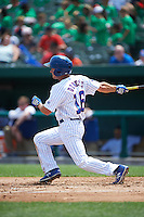 South Bend Cubs center fielder Donnie Dewees (16) at bat during the first game of a doubleheader against the Peoria Chiefs on July 25, 2016 at Four Winds Field in South Bend, Indiana.  South Bend defeated Peoria 9-8.  (Mike Janes/Four Seam Images)