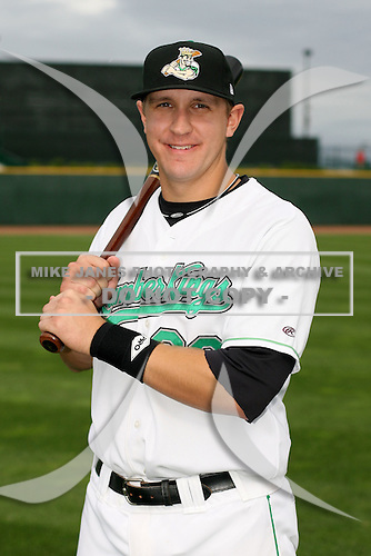 June 17th 2008:  Ian Gac of the Clinton Lumberkings, Class-A affiliate of the Texas Rangers, during the Midwest League All-Star Game at Dow Diamond in Midland, MI.  Photo by:  Mike Janes/Four Seam Images