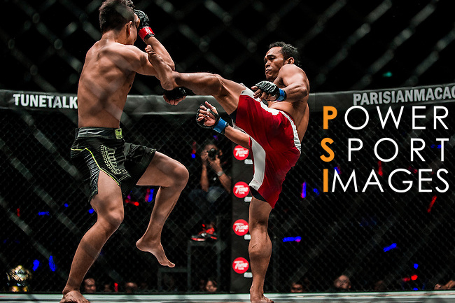 Featherweight World Championship Ma Jia Wen of China vs Jimmy Yabo of Philippines on 13 August 2016 at The Venetian Macao Cotai Arena in Macau, China. Photo by Marcio Machado / Power Sport Images