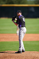 Colorado Rockies pitcher Bryan Baker (41) during an Instructional League game against the Arizona Diamondbacks on October 7, 2016 at Salt River Fields at Talking Stick in Scottsdale, Arizona.  (Mike Janes/Four Seam Images)