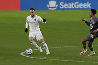 ST PAUL, MN - NOVEMBER 22: Keegan Rosenberry #2 of Colorado Rapids controls the ball during a game between Colorado Rapids and Minnesota United FC at Allianz Field on November 22, 2020 in St Paul, Minnesota.