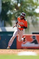 Baltimore Orioles Jaylen Ferguson (2) during an instructional league game against the Minnesota Twins on September 22, 2015 at Ed Smith Stadium in Sarasota, Florida.  (Mike Janes/Four Seam Images)