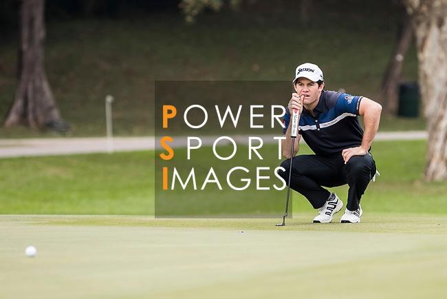 Ricardo Gouveia of Portugal lines up a putt during the day four of UBS Hong Kong Open 2017 at the Hong Kong Golf Club on 26 November 2017, in Hong Kong, Hong Kong. Photo by Yu Chun Christopher Wong / Power Sport Images