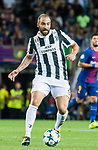 Gonzalo Gerardo Higuain of Juventus in action during the UEFA Champions League 2017-18 match between FC Barcelona and Juventus at Camp Nou on 12 September 2017 in Barcelona, Spain. Photo by Vicens Gimenez / Power Sport Images