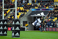 Wallaby captain Michael Hooper runs out for the Bledisloe Cup rugby union match between the New Zealand All Blacks and Australia Wallabies at Sky Stadium in Wellington, New Zealand on Sunday, 11 October 2020. Photo: Dave Lintott / lintottphoto.co.nz
