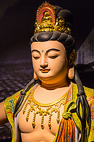 Wenzhou, Zhejiang, China.  Chinese Buddha in the  Intangible Cultural Heritage Museum.