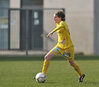 Waasland Beveren Sinaai Girls - Famkes Merkem : .Kwartfinale beker van België 2011-2012 : Charlotte Van Wynsberghe..foto DAVID CATRY / JOKE VUYLSTEKE / Vrouwenteam.be