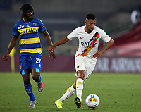 Roma's Bruno Peres, right, is chased by Parma's Gervinho during the Italian Serie A football match between Roma and Parma at Rome's Olympic stadium, July 8, 2020.<br /> UPDATE IMAGES PRESS/Isabella Bonotto