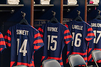 EAST HARTFORD, CT - JULY 1: The jersey of Megan Rapinoe #15 of the USWNT sits in the locker room during a game between Mexico and USWNT at Rentschler Field on July 1, 2021 in East Hartford, Connecticut.