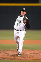 Dayton Dragons pitcher Bennett Klimesh #40 during a game against the Bowling Green Hot Rods on April 20, 2013 at Fifth Third Field in Dayton, Ohio.  Dayton defeated Bowling Green 6-3.  (Mike Janes/Four Seam Images)