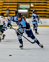 30 November 2018: University of Maine Black Bear Forward Michelle Weis, a Sophomore from Charlottenlund, Denmark, in first period action against the University of Vermont Catamounts at Gutterson Fieldhouse in Burlington, Vermont. The Lady Bears defeated the Lady Cats 2-1 in the first game of their 2-game Hockey East series. Mandatory Credit: Ed Wolfstein Photo *** RAW (NEF) Image File Available ***