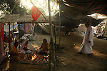 Hindu prists permorm yanga (sacrifice to fire during worship) at a make shift camp during Sonepur fair. Bihar, India, Arindam Mukherjee