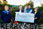The Tralee Manor West Cycling Club presenting the sum of €1,650 to Recovery Haven at the centre on Monday. L to r: Breda Carmody (Recovery Haven), Matt Lacey (Tralee Manor West Cycling Club), Skye and Daithi Creadon (Tralee Manor West Cycling Club) and Maureen O'Brien (Recovery Haven).