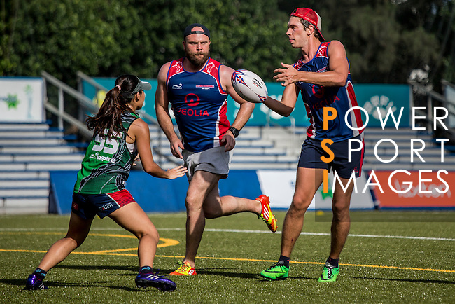 Players in action during the Swire Properties Touch Tournament 2014 for HKRFU on September 13, 2014 at King's Park Sports Ground in Hong Kong, China. Photo by Jerome Favre / Power Sport Images