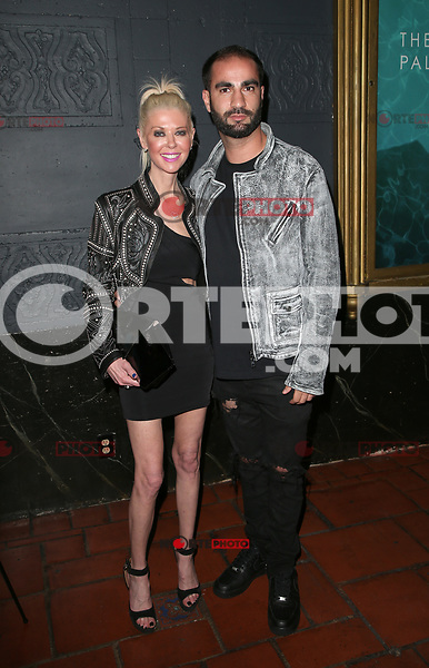 LOS ANGELES, CA - NOVEMBER 17: Tara Reid, Andre Ghalili, at the Tribes Of Palos Verdes Premiere at The Ace Hotel Theater in Los Angeles, California on November 17, 2107. Credit: Faye Sadou/MediaPunch /NortePhoto.com