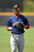 GCL Red Sox outfielder Jordon Austin (40) during practice before a game against the GCL Rays on June 24, 2014 at Charlotte Sports Park in Port Charlotte, Florida.  GCL Red Sox defeated the GCL Rays 5-3.  (Mike Janes/Four Seam Images)