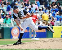 Trenton Thunder pitcher Branden Pinder (35) during game against the Erie SeaWolves at ARM & HAMMER Park on May 29 2013 in Trenton, NJ.  Trenton defeated Erie 3-1.  Tomasso DeRosa/Four Seam Images