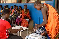 UGANDA Karamoja , health station of catholic hospital in Kotido , treatment of Karimojong women and babies, Karimojong is a pastoral tribe / UGANDA Karamoja, kirchliches Krankenhaus in Kotido, Behandlung von Karimojong Frauen und ihren Babies