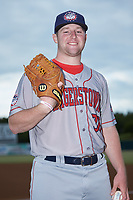 Hagerstown Suns relief pitcher Matt Cronin (36) poses for a photo prior to the game against the Kannapolis Intimidators at Kannapolis Intimidators Stadium on August 26, 2019 in Kannapolis, North Carolina. The Suns defeated the Intimidators 4-1. (Brian Westerholt/Four Seam Images)