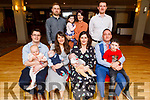 Double christening of 1st cousins in the Ashe Hotel on Saturday.<br />  The christening of Rian Sweeney from Ballyard and Alex Fitzgerald from Tralee.<br /> Seated l to r: Paul, Ella, Marie and baby Rian Sweeney, Siobhan, baby Alex, John and Noah Fitzgerald.<br /> Back l to r: James Sweeney, Helena and Aoife Clifford and Denis Fitzgerald.