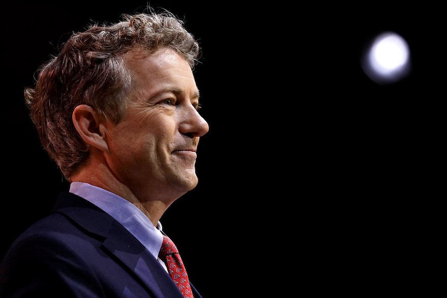 Kentucky Senator Rand Paul makes a speech at the 2014 CPAC conference in National Harbor, Maryland March 7, 2014.