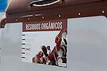 Viana.Navarra.Espana.Viana.Navarra.Spain.Contenedores de recogida selectiva de basuras. Marron, residuos organicos..Containers of garbage collection. Brown, organic waste..(ALTERPHOTOS/Alfaqui/Acero)