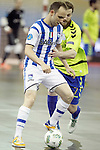 Pescara's Grello (l) and Inter FS's Mario Pola during UEFA Futsal Cup 2015/2016 Semifinal match. April 22,2016. (ALTERPHOTOS/Acero)