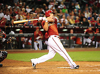 Apr. 21, 2010; Phoenix, AZ, USA; Arizona Diamondbacks shortstop Stephen Drew against the St. Louis Cardinals at Chase Field. The Cardinals defeated the Diamondbacks 9-4. Mandatory Credit: Mark J. Rebilas-