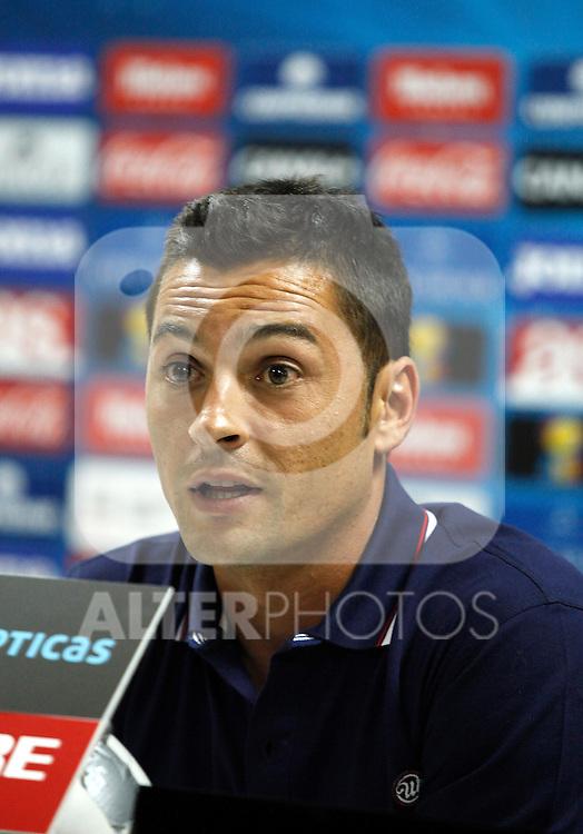 Almeria's coach Francisco Javier Rodriguez during La Liga match.August 23,2013. (ALTERPHOTOS/Victor Blanco)