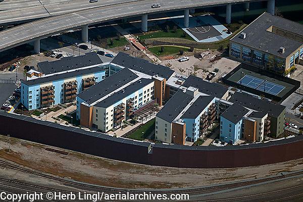 aerial photograph apartment buildings Mission Bay, San Francisco, California