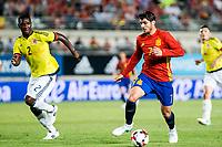 Alvaro Morata of Spain competes for the ball with Cristian Eduardo Zapata -of Colombia during the friendly match between Spain and Colombia at Nueva Condomina Stadium in Murcia, jun 07, 2017. Spain. (ALTERPHOTOS/Rodrigo Jimenez) (NortePhoto.com) (NortePhoto.com)