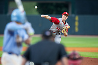 North Carolina State Wolfpack relief pitcher Michael Bienlien (26) delivers a pitch to the plate against the North Carolina Tar Heels in Game Twelve of the 2017 ACC Baseball Championship at Louisville Slugger Field on May 26, 2017 in Louisville, Kentucky.  The Tar Heels defeated the Wolfpack 12-4 to advance to the semi-finals.  (Brian Westerholt/Four Seam Images)
