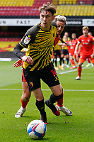 James Garner (16) (on loan from Man Utd) of Watford during the Sky Bet Championship match between Watford and Luton Town at Vicarage Road, Watford, England on 26 September 2020. Photo by David Horn.