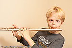 Grade 4 boy playing the flute