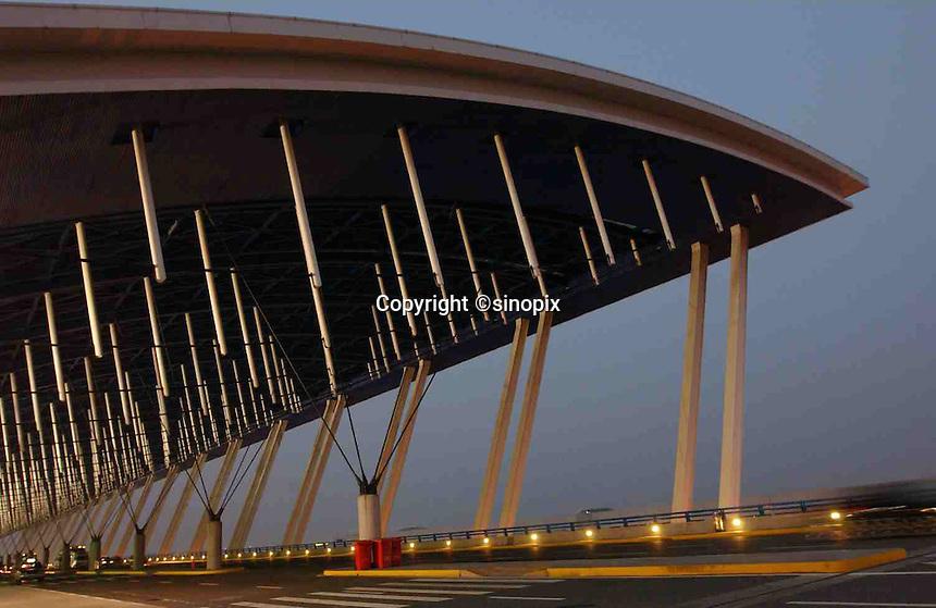 Shanghai's Hongqiao International Airport, China..