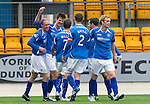 St Johnstone v Hearts...25.09.11   SPL Week 9.Cillian Sheridan celebrates his second goal.Picture by Graeme Hart..Copyright Perthshire Picture Agency.Tel: 01738 623350  Mobile: 07990 594431