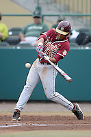 Florida State Seminoles third baseman Jose Brizuela (53) during a game against the South Florida Bulls on March 5, 2014 at Red McEwen Field in Tampa, Florida.  Florida State defeated South Florida 4-1.  (Mike Janes/Four Seam Images)