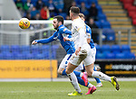 St Johnstone v Livingston…..07.03.20   McDiarmid Park  SPFL<br />Drey Wright and Jack McMillan<br />Picture by Graeme Hart.<br />Copyright Perthshire Picture Agency<br />Tel: 01738 623350  Mobile: 07990 594431