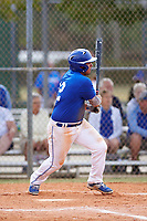 Illinois College Blueboys shortstop Alex Lilly (12) at bat during a game against the Edgewood Eagles on March 14, 2017 at Terry Park in Fort Myers, Florida.  Edgewood defeated Illinois College 11-2.  (Mike Janes/Four Seam Images)