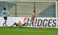 20th July 2021; Buenos Aires, Argentina;  Emiliano Rigoni of São Paulo scores his second goal during the match between Racing and São Paulo, for the Libertadores 2021 Round of 16, at Estádio Presidente Perón