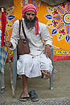 Indian Man in Allahabad for Kumbh Mela Festival.