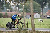 Nik Čemazar (SVN)<br /> <br /> World Championships U23 Men - ITT <br /> Time Trial from Knokke-Heist to Bruges (30.3km)<br /> <br /> UCI Road World Championships - Flanders Belgium 2021<br /> <br /> ©kramon
