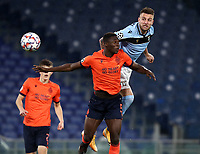 Football Soccer: UEFA Champions League -Group Stage-  Group F - S.S:Lazio vs Club Brugge KV Olympic stadium, Rome, 8 December, 2020.<br /> Lazio's Sergej Milinkovic-Savic (r) in action with Brugge's Odilon Kossounou (l) during the Uefa Champions League football soccer match between Lazio and Club Brugge at Olympic stadium in Rome, on December 8, 2020. <br /> UPDATE IMAGES PRESS/Isabella Bonotto